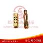 厂家直销黄铜镀金4.0香蕉插头 可订做各种规格航空模型插头
